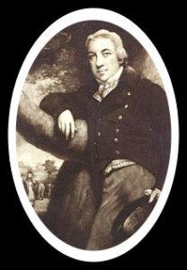 Porträt von Edward Jenner * 1749. Er war ein englischer Arzt, der die moderne Schutzimpfung gegen Pocken entwickelte.